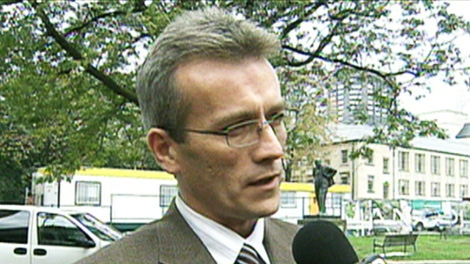Mark Ferguson, president of CUPE Local 416, speaks with CTV News on Monday, Oct. 24, 2011.