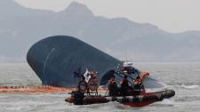 Sunken ferry near Jindo, South Korea