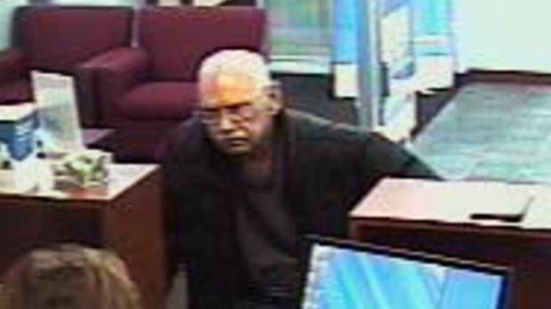 Walter Unbehaun during a bank robbery