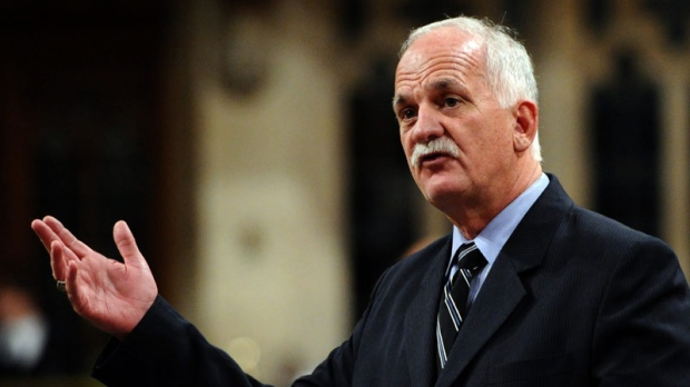 Public Safety Minister Vic Toews is seen speaking in the House of Commons on Oct. 24, 2011