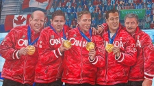 One of the murals commission by the City immortalizes the Olympic medal presentation to the Martin rink. October 25, 2011