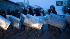 Riot police in Donetsk, Ukraine