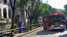 Emergency crews on the scene after Mexico quake