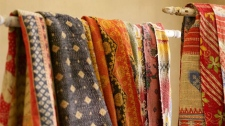 Exotic Kantha Throws from Pottery Barn add spicy colours to a sofa or bed.