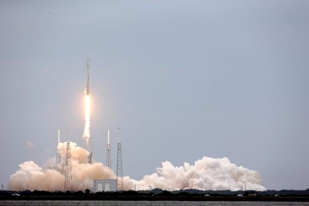 SpaceX capsules takes off after month-long delay