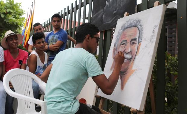 Portrait of Gabriel Garcia Marquez
