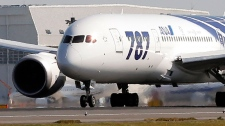 All Nippon Airways Boeing 787 accelerates to take off for the airplane's inaugural commercial flight to Hong Kong at Narita International Airport in Narita, east of Tokyo, Wednesday, Oct. 26, 2011. (AP / Itsuo Inouye)