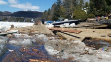 CTV Montreal: Cleanup in Lac des Seize Iles
