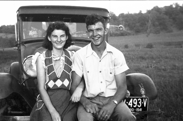 Kenneth and Helen Felumlee pose for a photo nearly three years before their marriage, in September 1941. (Felumlee family)