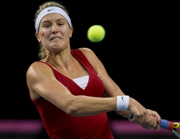Eugenie Bouchard beats Slovakia player at Fed Cup