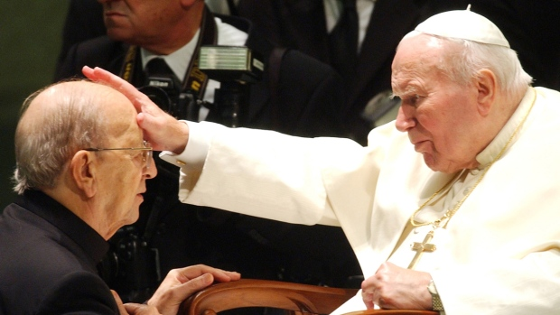 Pope John Paul II in 2004