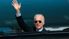 U.S. Vice President Joe Biden lands in Kyiv