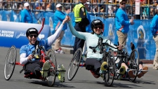 Boston Marathon bombing survivors compete in race