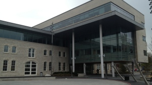 Guelph City Hall is seen on Monday, April 21, 2014. (David Imrie / CTV Kitchener)