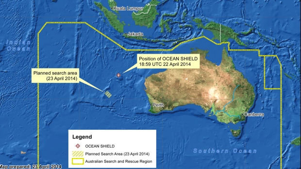 Material on Australian shore search for MH370