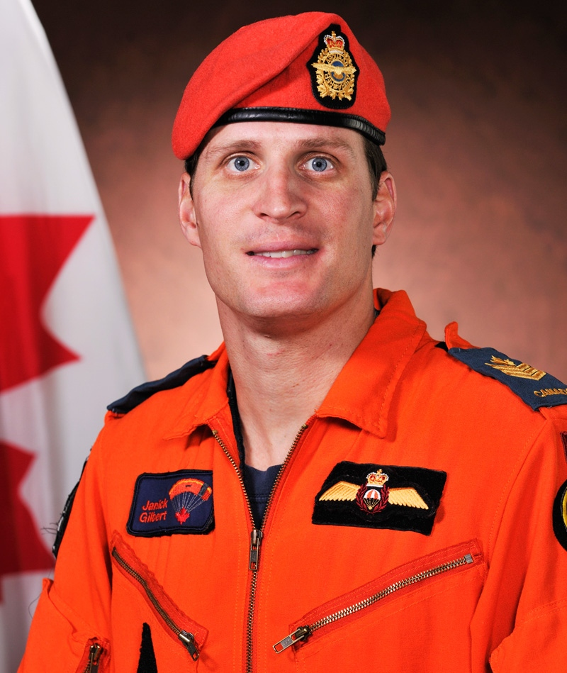 Sgt. Janick Gilbert, who was involved in the rescue of two people stranded on a boat in Nunavut, has died. (Department of National Defence)