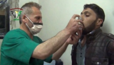 Syrian man treated with inhaler