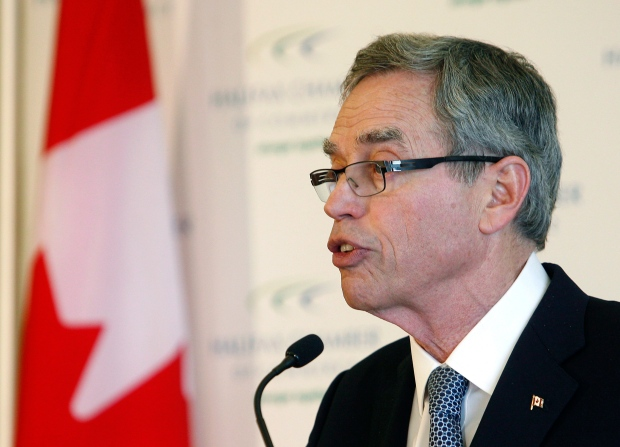Joe Oliver speaks in Halifax
