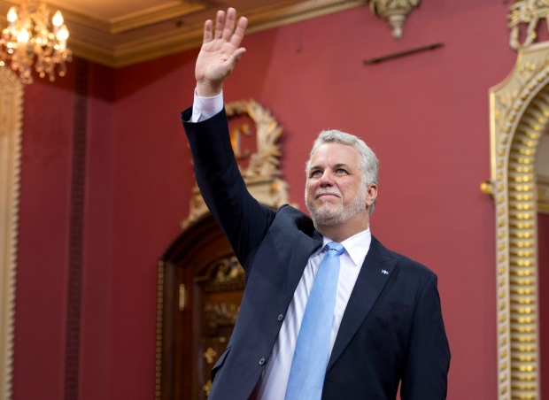 Quebec Premier Couillard sworn in