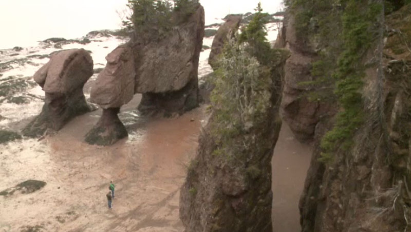 A section of Route 114 closed a week ago after it collapsed during the flood and traffic to Hopewell Rocks has dropped significantly as a result. (CTV Atlantic)