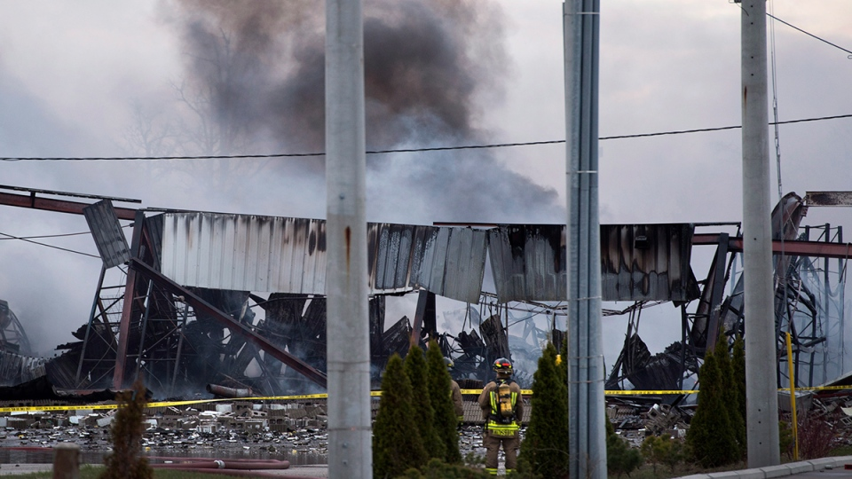 Three-alarm fire at factory in Mississauga