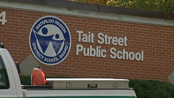 Students at Tait Street Public School were evacuated after a power outage in Cambridge, Ont. on Friday, Oct. 28, 2011.