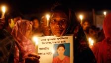 A Bangladeshi woman at Rana Plaza collapse