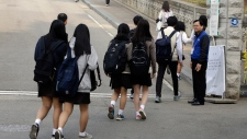 Students at Danwon High School, Ansan, South Korea