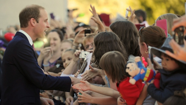 Prince William in Canberra, Australia