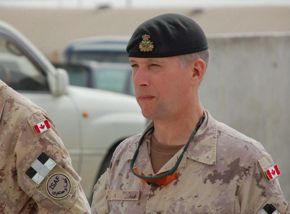 Then-Lt.-Gen. Andrew Leslie, head of the Canadian army in Kandahar, is shown on Wednesday, April 7, 2010. (Murray Brewster / THE CANADIAN PRESS)
