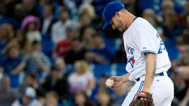 Blue Jays pitcher Dustin McGowan in Toronto