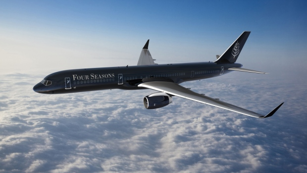 The Four Seasons' private jet