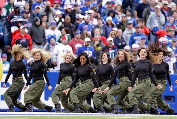 Buffalo Bills cheerleaders at NFL game