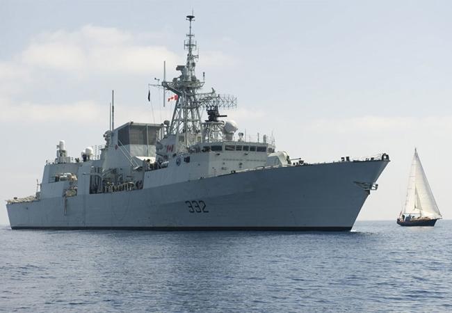 HMCS Ville de Quebec is a multi-role patrol frigate.