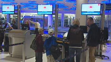 The new terminal at James Armstrong Richardson International Airport officially opened Sunday, October 30, 2011.