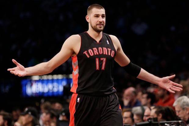 Toronto Raptors' Jonas Valanciunas