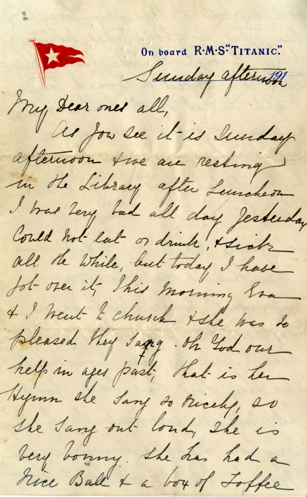 Rare Titanic letter to be auctioned