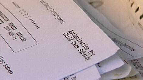 Sensitive documents from the B.C. Ministry of Children and Family Development were found dumped in a Victoria garbage bin. Oct. 31, 2011. (CTV)