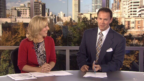 CTV Sports Director Perry Solkowski, CTV News Anchor Keri Adams and CTV Weather Specialist Marke Driessen are on CTV News, weekdays at noon.  (CTV)