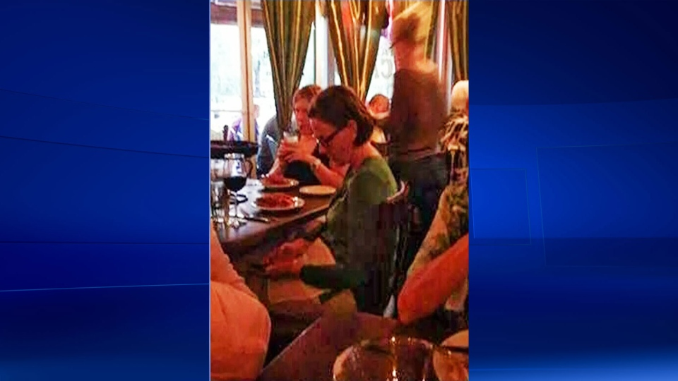 Former Alta. Premier Alison Redford is seen in a restaurant in Palm Springs, California.