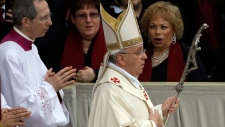 Pope Francis at the Vatican for ceremony
