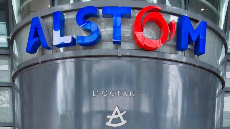 Alstom company headquarters outside Paris, France, on April 24, 2014. (AP / Jacques Brinon)