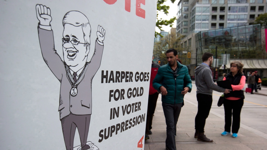 Fair Elections Act protest in Vancouver, B.C.