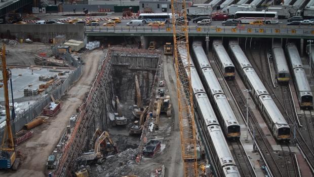 Tunnel construction, Hudson Yards, New York