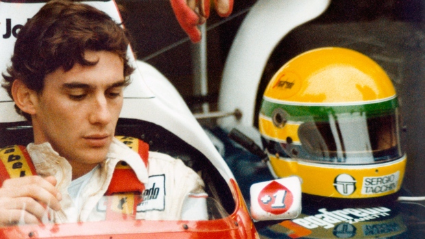 Ayrton Senna in a scene from the film 'Senna'