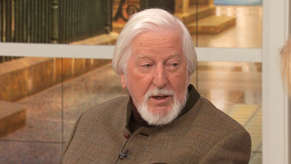 Actor and puppeteer Caroll Spinney appears on CTV's Canada AM on Monday, April 28, 2014.