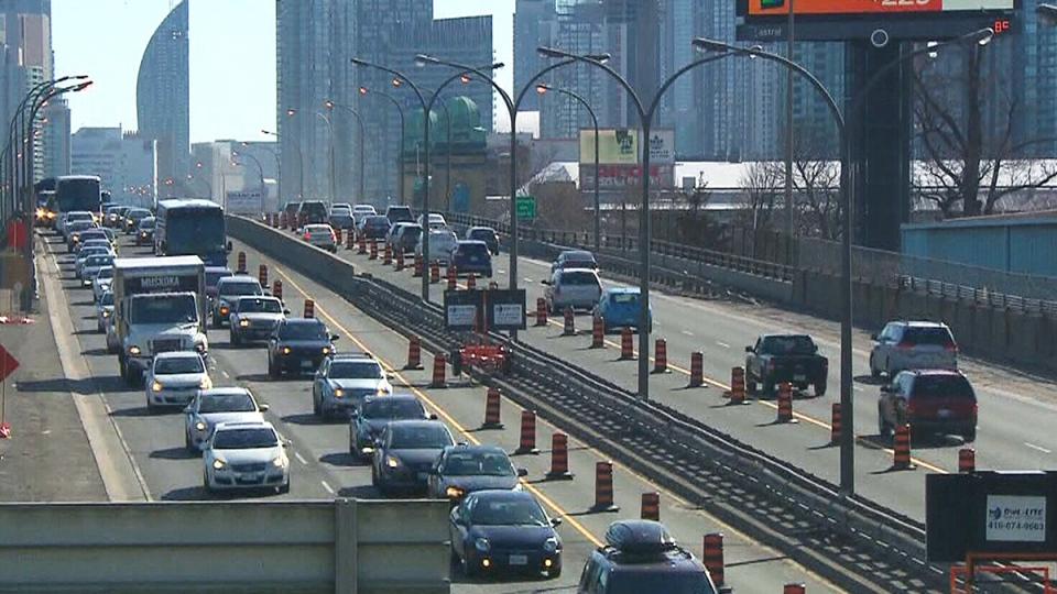 CTV Toronto: Traffic backed up across Gardiner