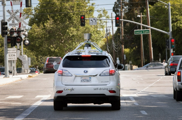 Google's driverless car in Mountain View, Calif.