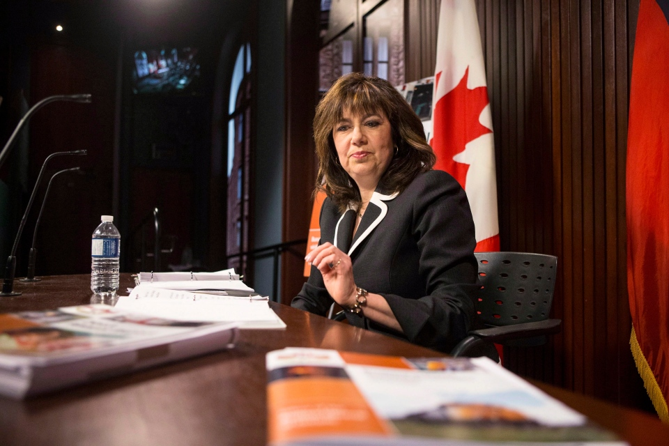 Ontario Auditor General Bonnie Lysyk prepares to deliver the 2013 annual report at the legislature in Toronto on Tuesday, Dec. 10, 2013. (Chris Young / THE CANADIAN PRESS)