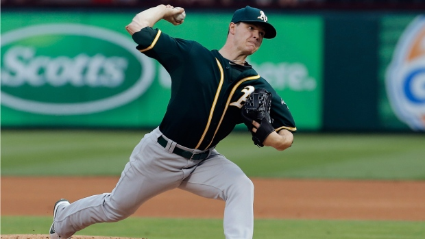 Oakland Athletics starting pitcher Sonny Gray